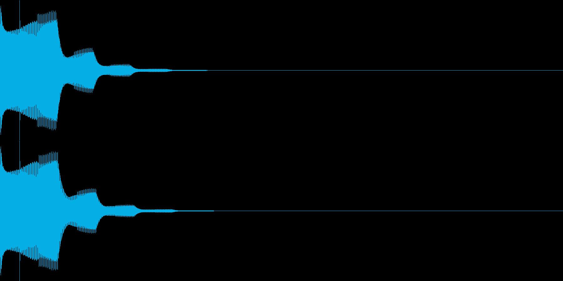 決定音22(シンセ)の再生済みの波形