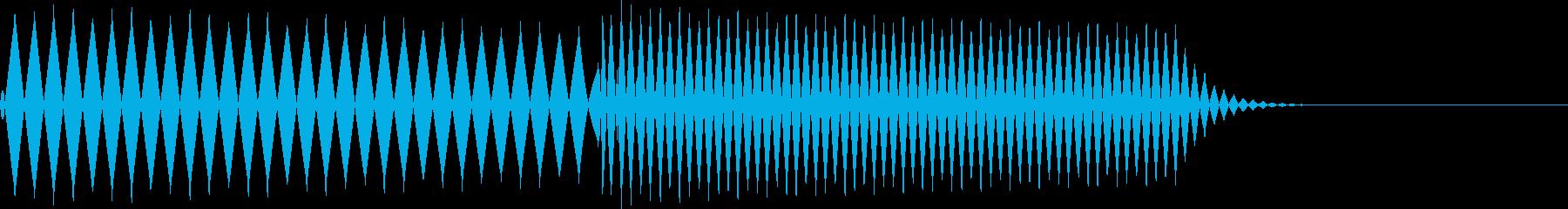 ピコ(カーソル移動、決定、ボタン押す)の再生済みの波形