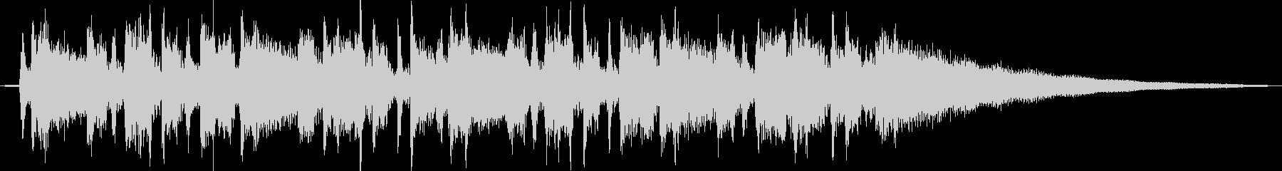 アコギのファンキーなカッティングの未再生の波形