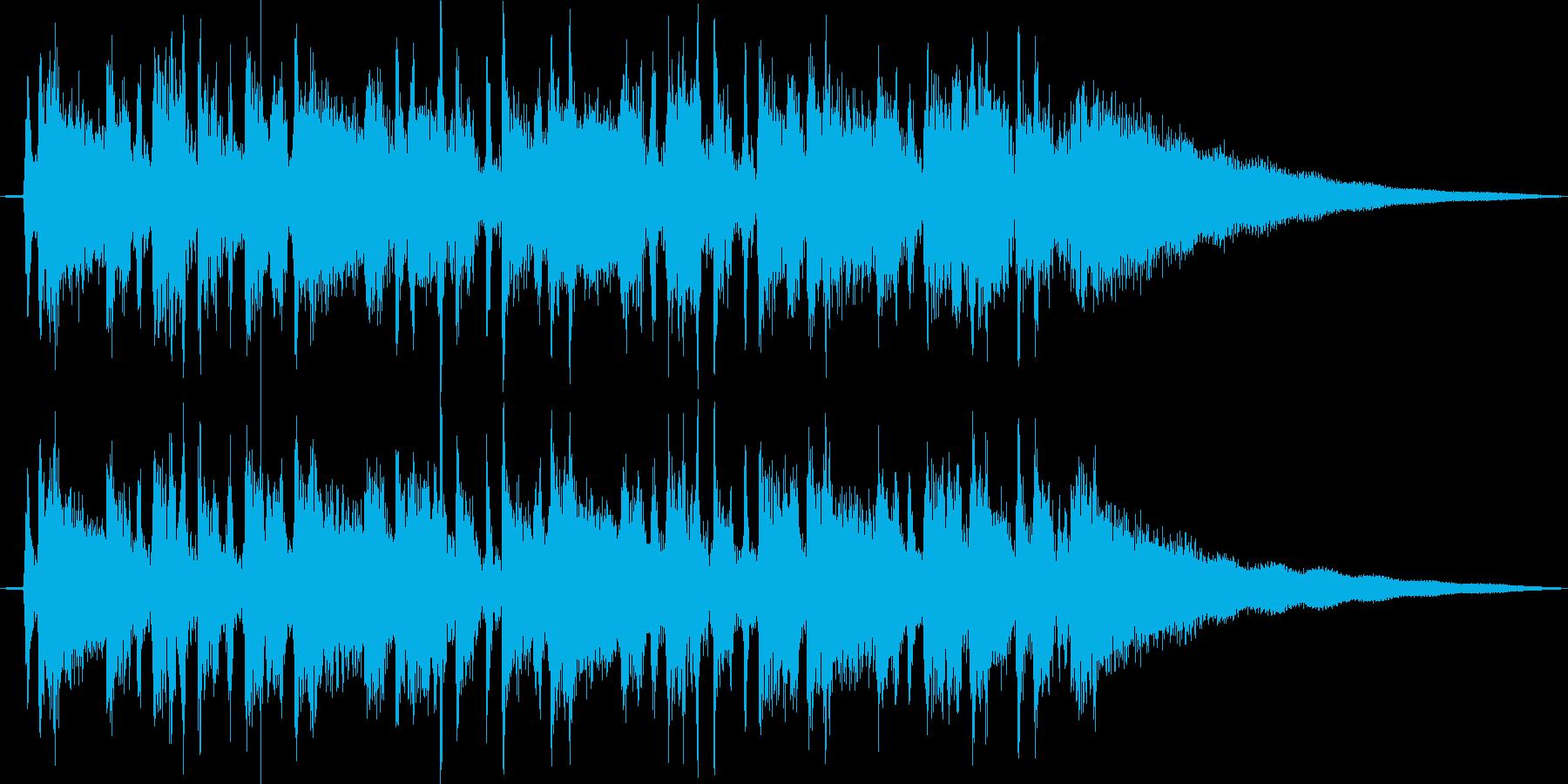 アコギのファンキーなカッティングの再生済みの波形
