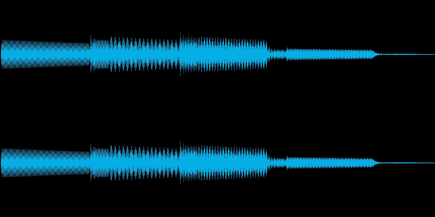 ボタン決定音システム選択タッチ登録A04の再生済みの波形