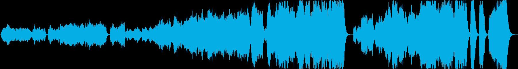 ファンタジーで雄大な雰囲気のBGMの再生済みの波形
