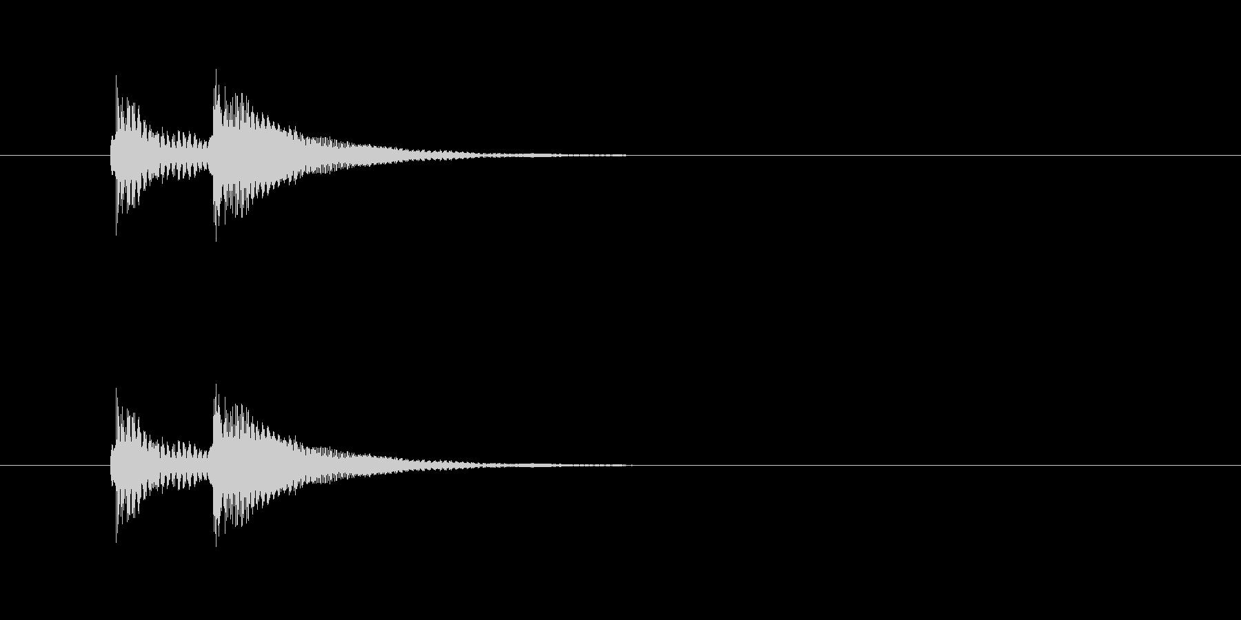 ビッビッという音です。不正解音などに。の未再生の波形