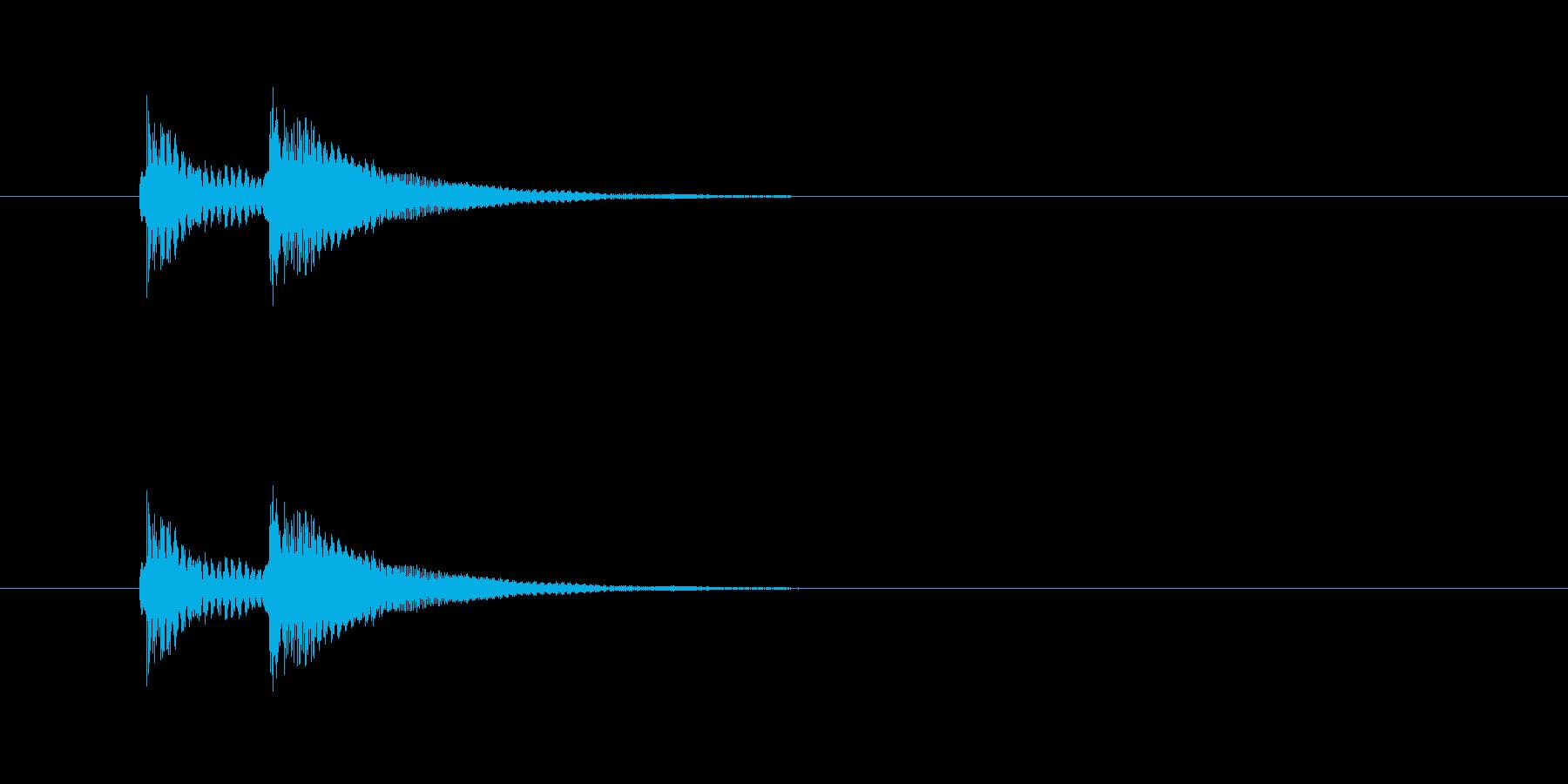ビッビッという音です。不正解音などに。の再生済みの波形
