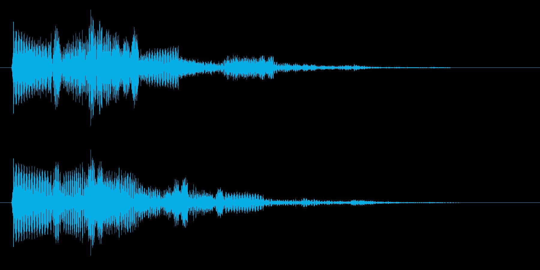 お知らせ・通知・受信音(ティロリン)の再生済みの波形