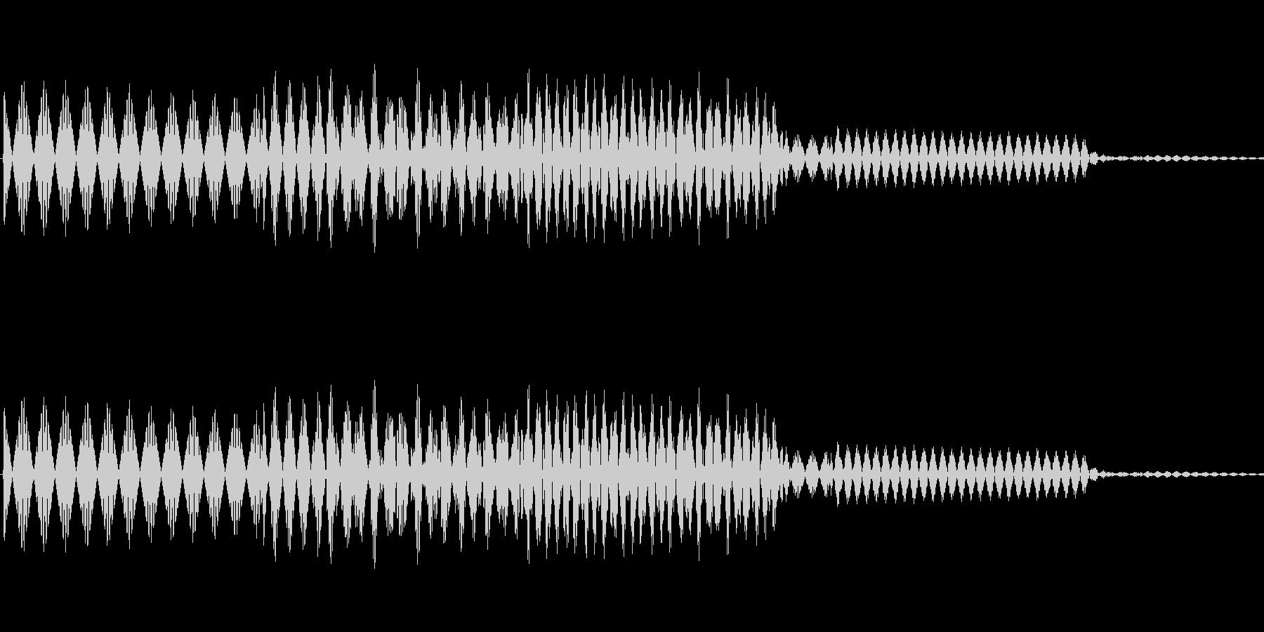 ボタン決定音システム選択タッチ登録C05の未再生の波形