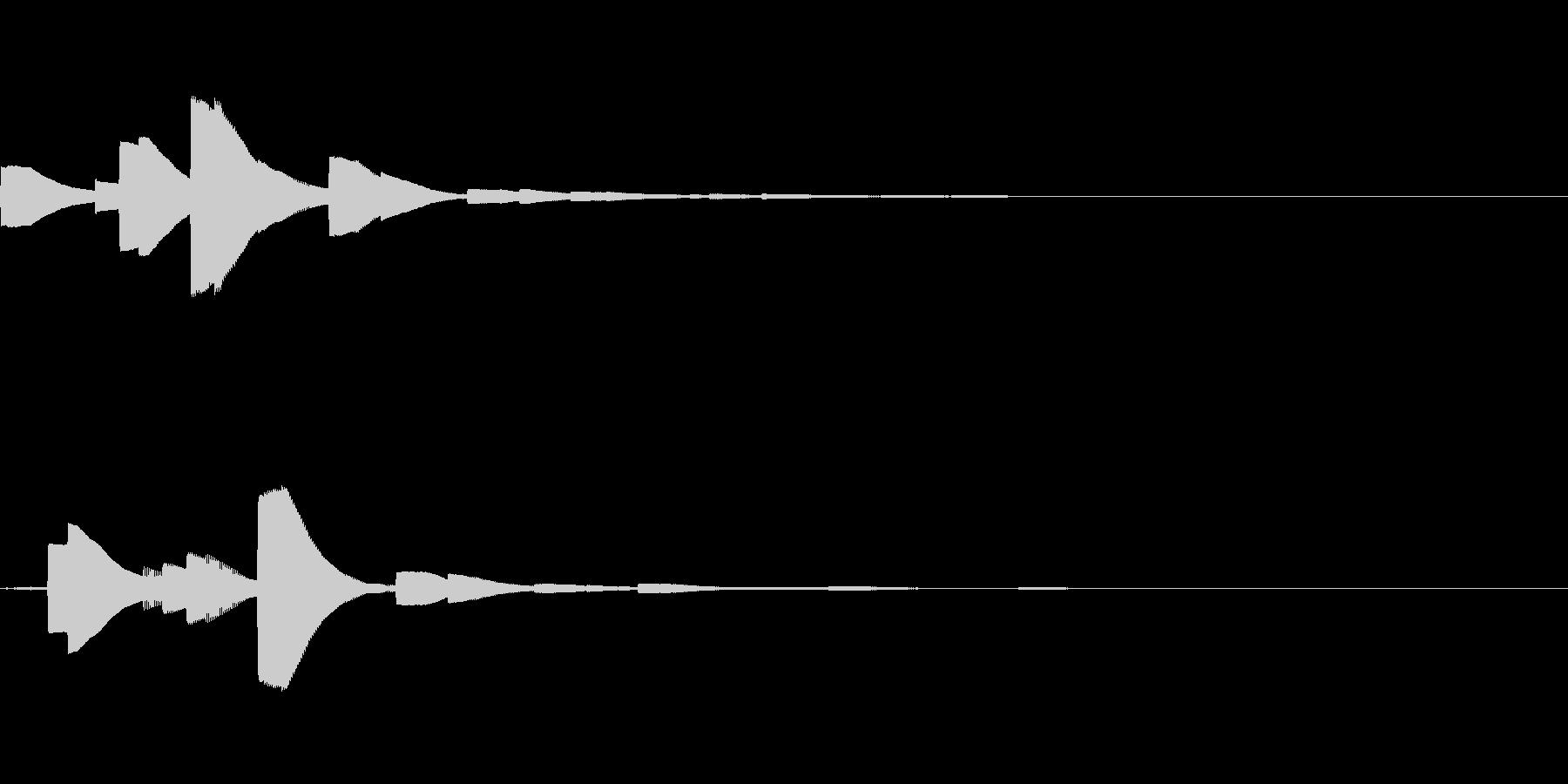 システム音18_シンセDZの未再生の波形