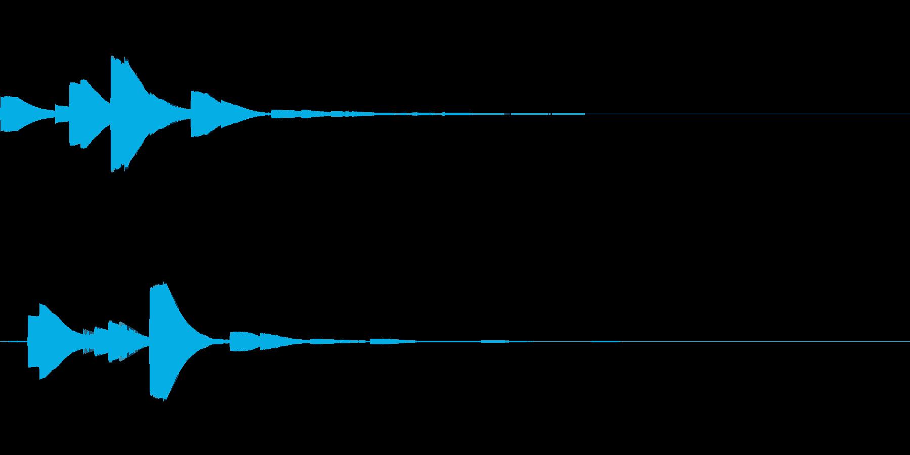 システム音18_シンセDZの再生済みの波形