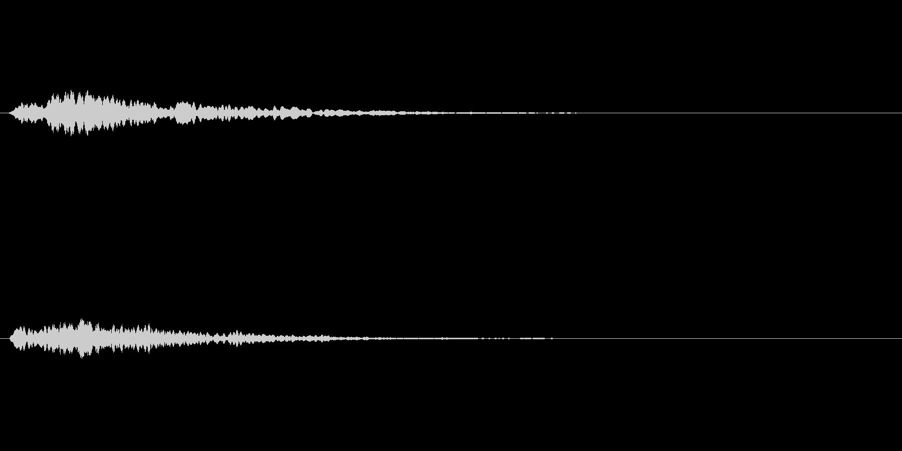 コインの音の未再生の波形