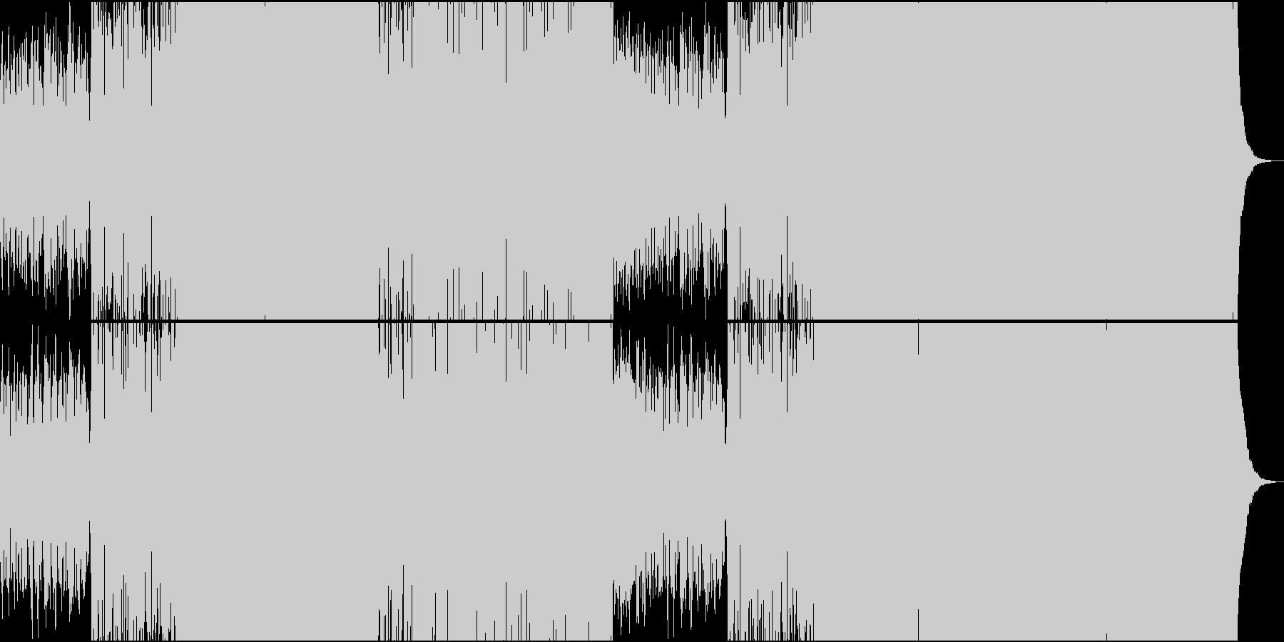 大らかな中華サンウンド系EDMの未再生の波形
