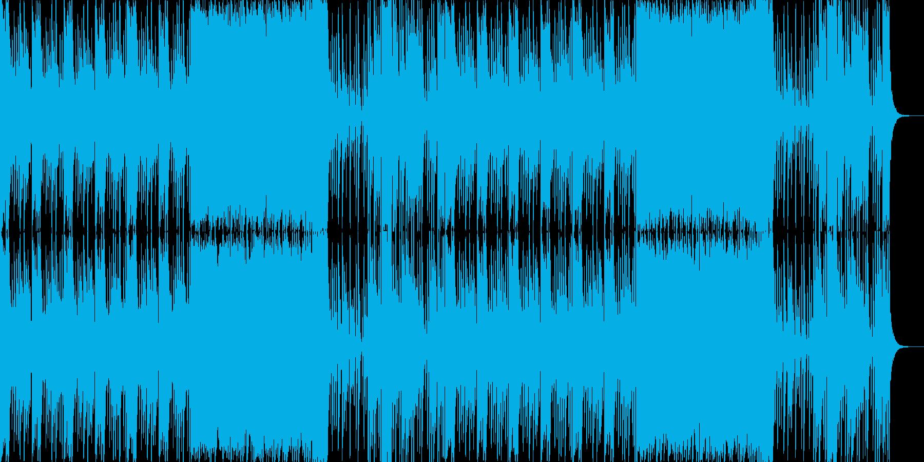 ロックサウンドをイメージした雰囲気物で…の再生済みの波形