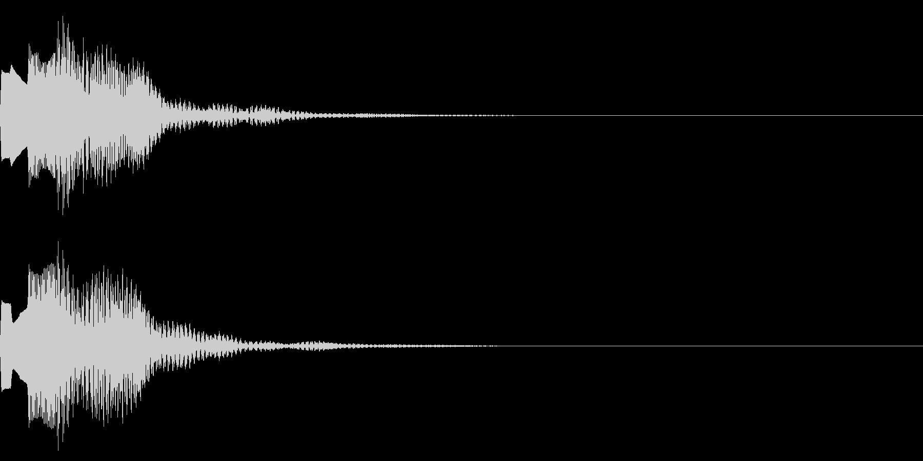 決定音65_シンセAIの未再生の波形