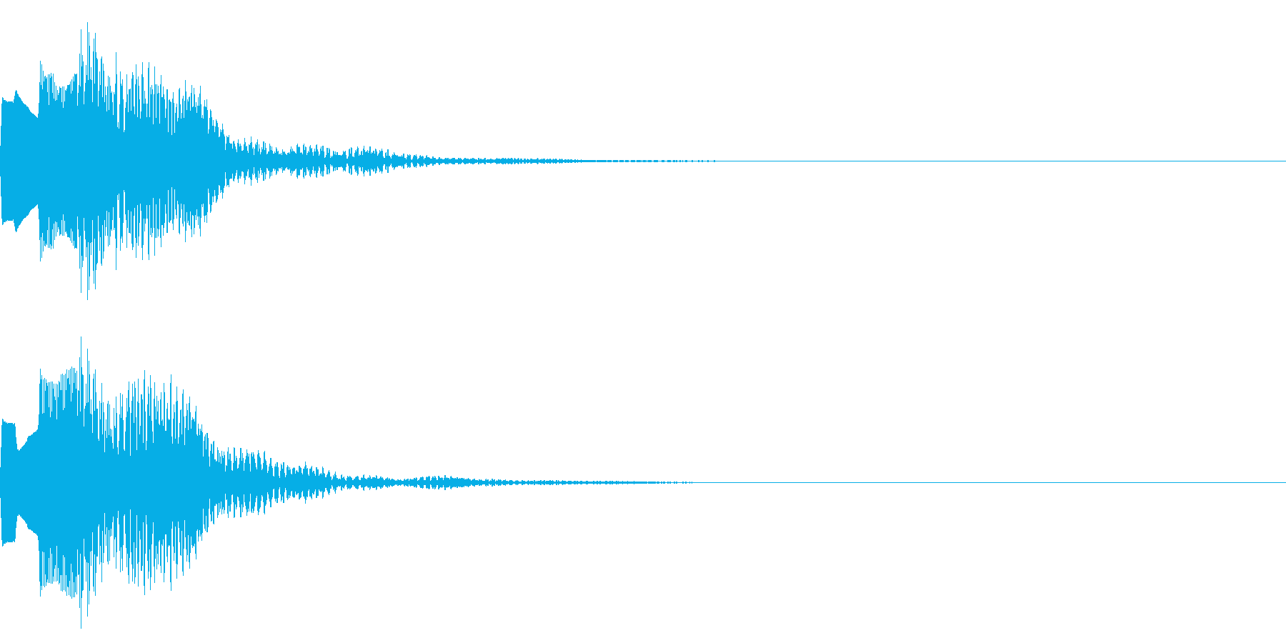 決定音65_シンセAIの再生済みの波形