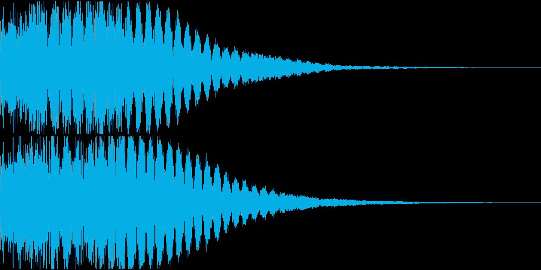 キュイン ギュイーン シャキーン 05の再生済みの波形