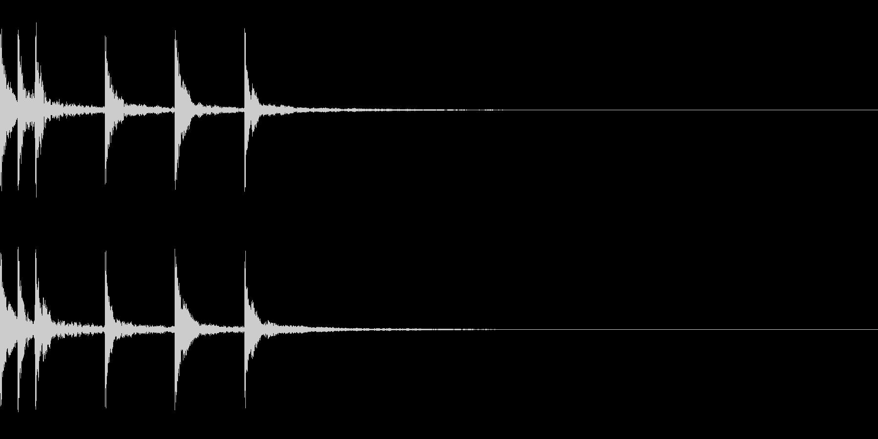 ナチラルさを感じるシンプルなサウンドロゴの未再生の波形