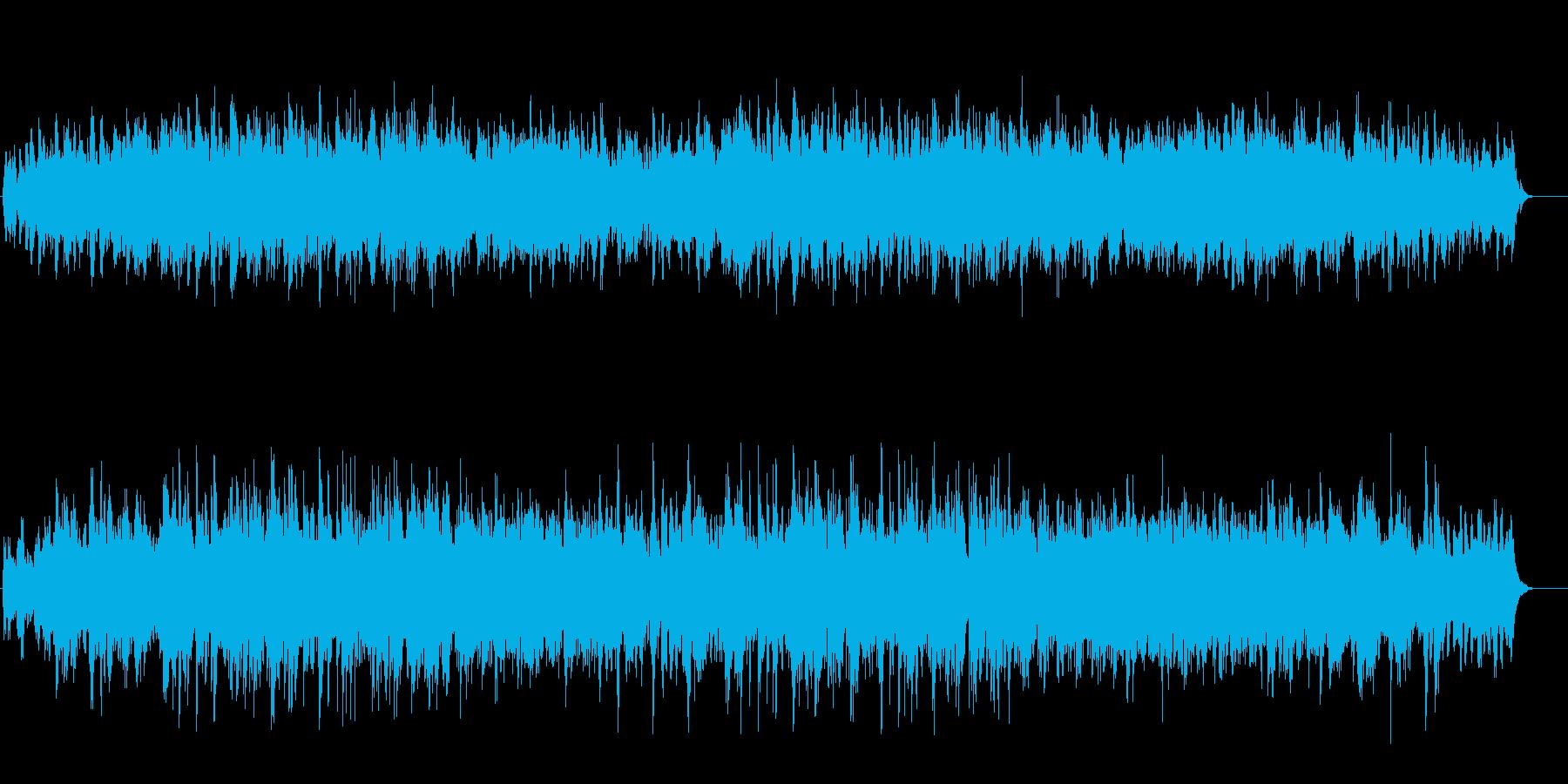 厳冬の中自然の強さを感じるアンビ系BGMの再生済みの波形
