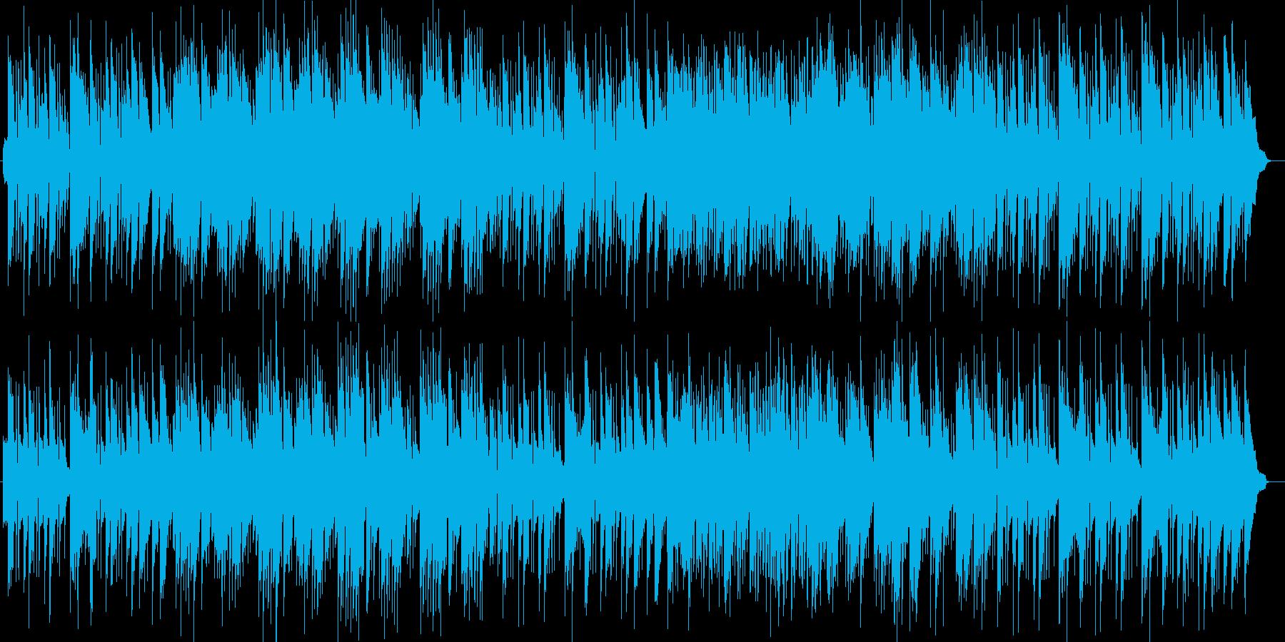 ゆったりリラックスのギター・シンセ曲の再生済みの波形