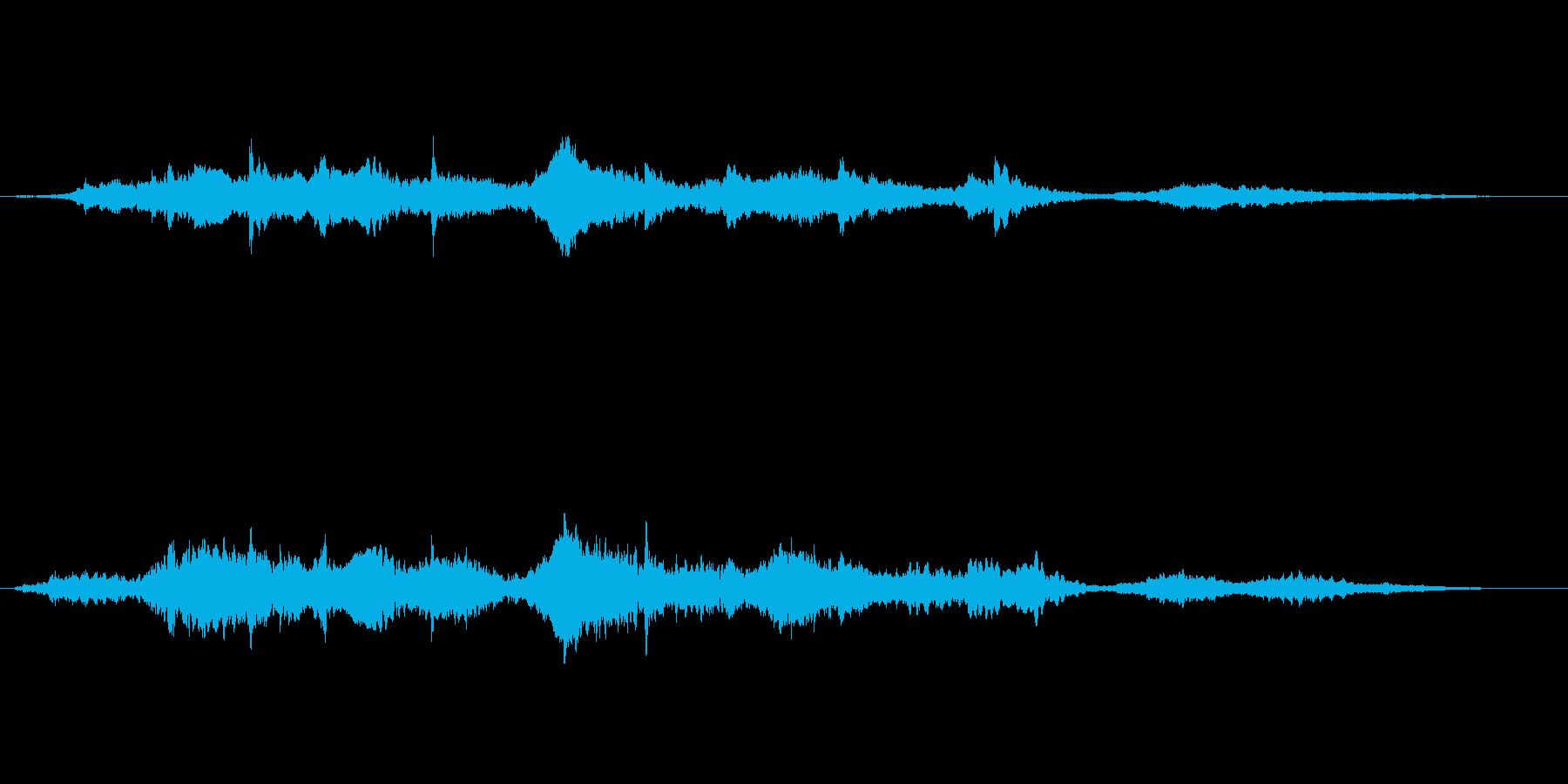 幻想的かつエキゾチックなアンビエント楽曲の再生済みの波形