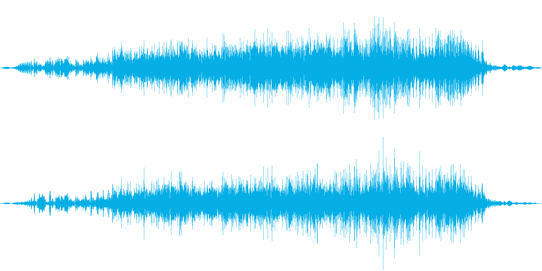 うりぼうの鳴き声の再生済みの波形