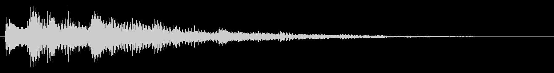 1フレーズ セレクト・ポーズ・決定音1の未再生の波形