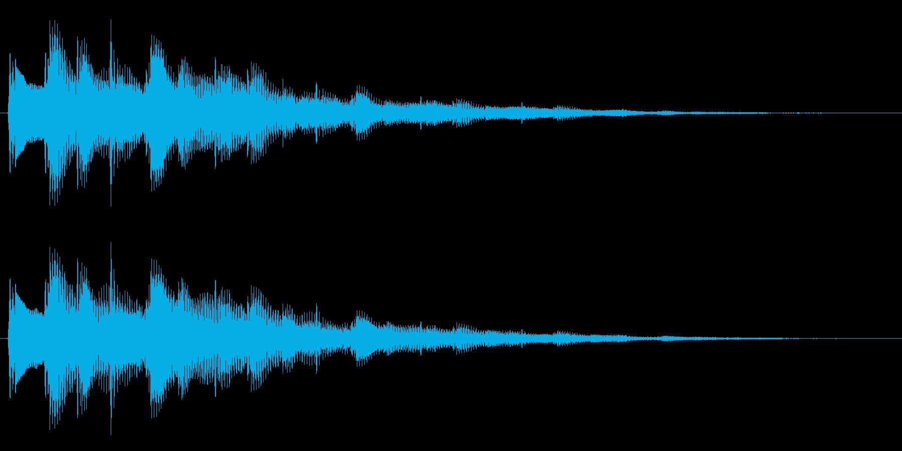 1フレーズ セレクト・ポーズ・決定音1の再生済みの波形