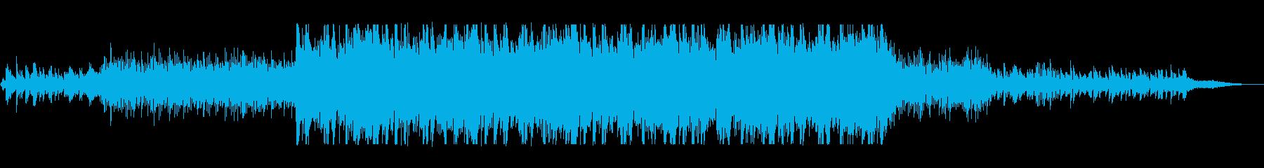 近未来的で不思議なシンセサウンドの再生済みの波形