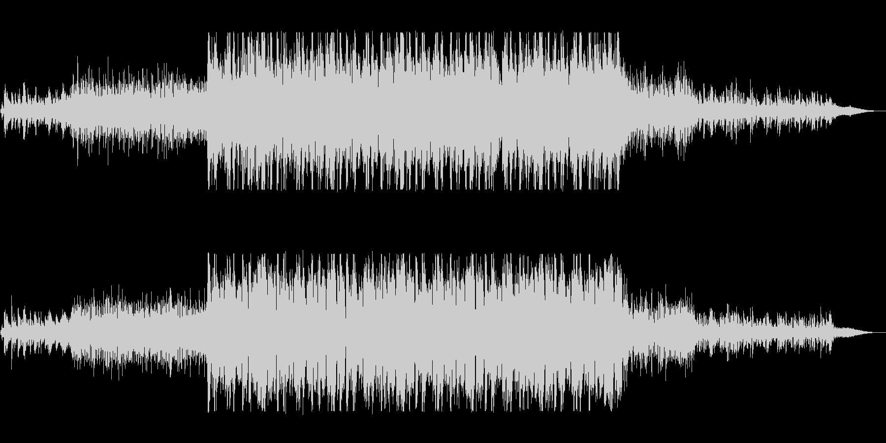 近未来的で不思議なシンセサウンドの未再生の波形