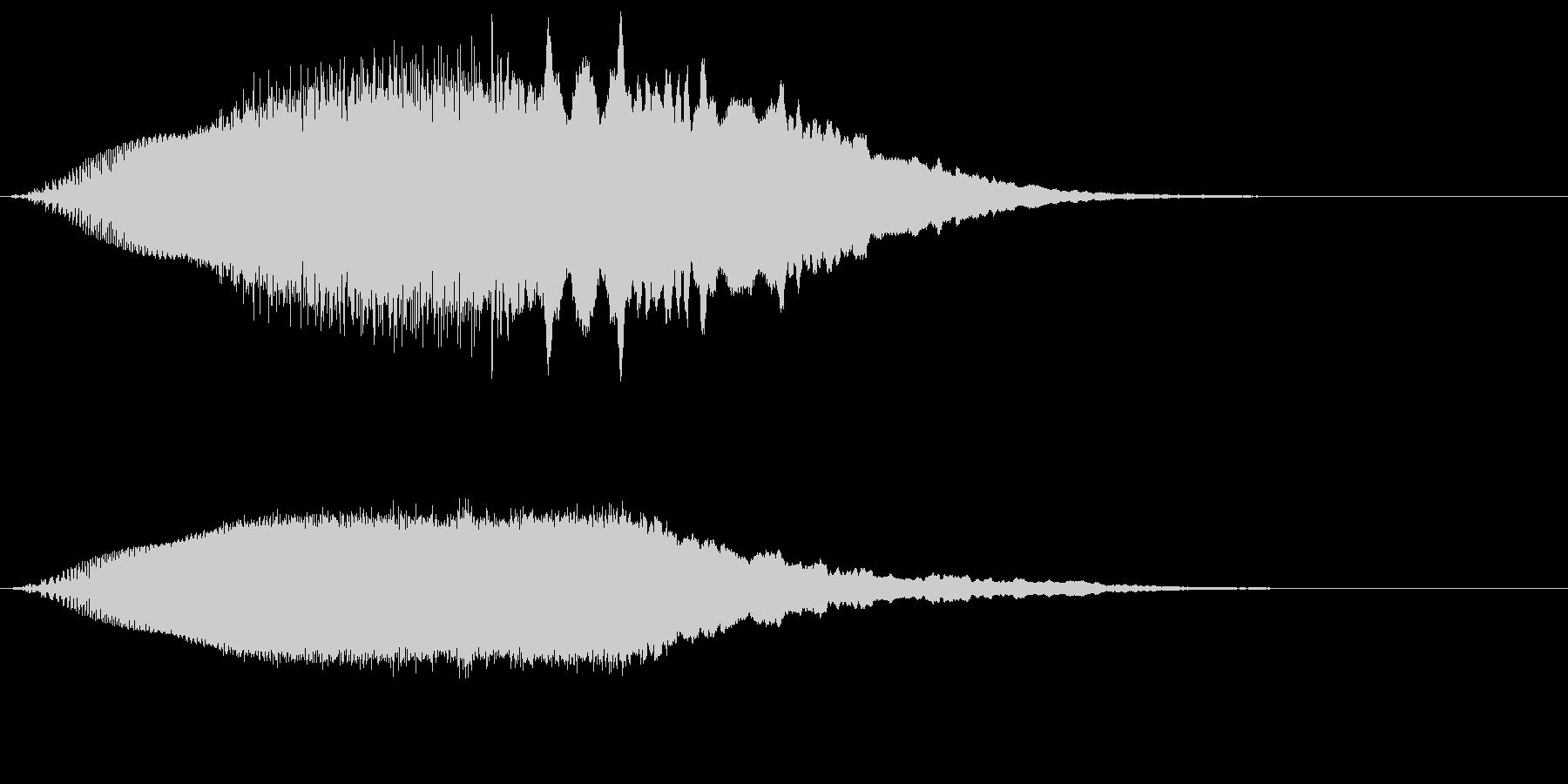上昇していく効果音、レーザー音の未再生の波形