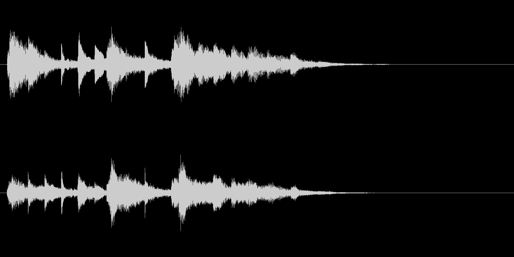 ピアノの幻想的なジングル・場面転換の未再生の波形