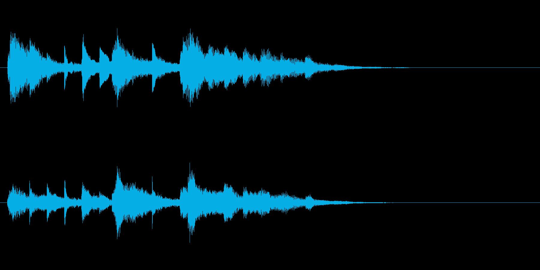 ピアノの幻想的なジングル・場面転換の再生済みの波形