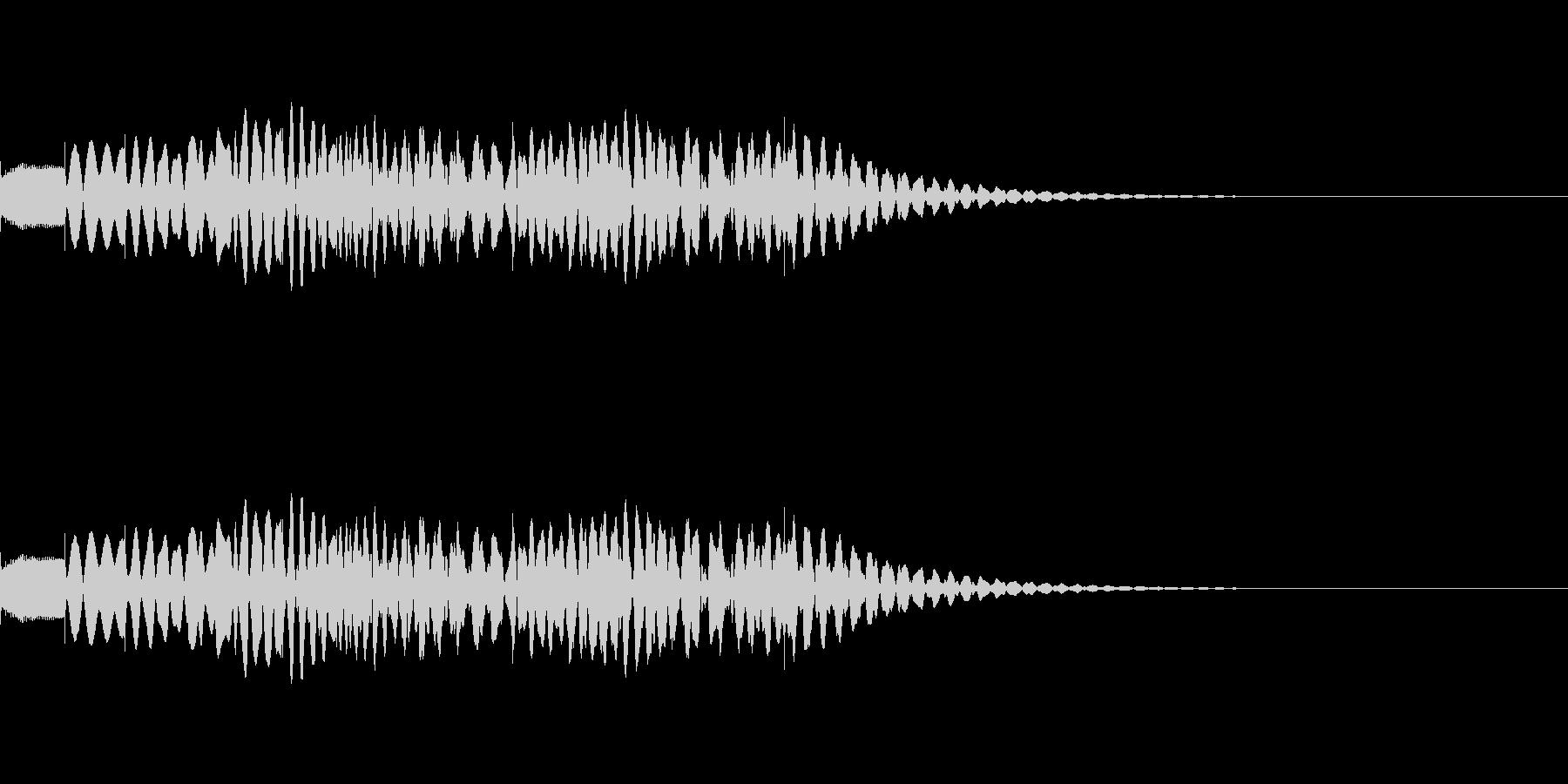 上がって下がるマリンバグリッサンドの未再生の波形
