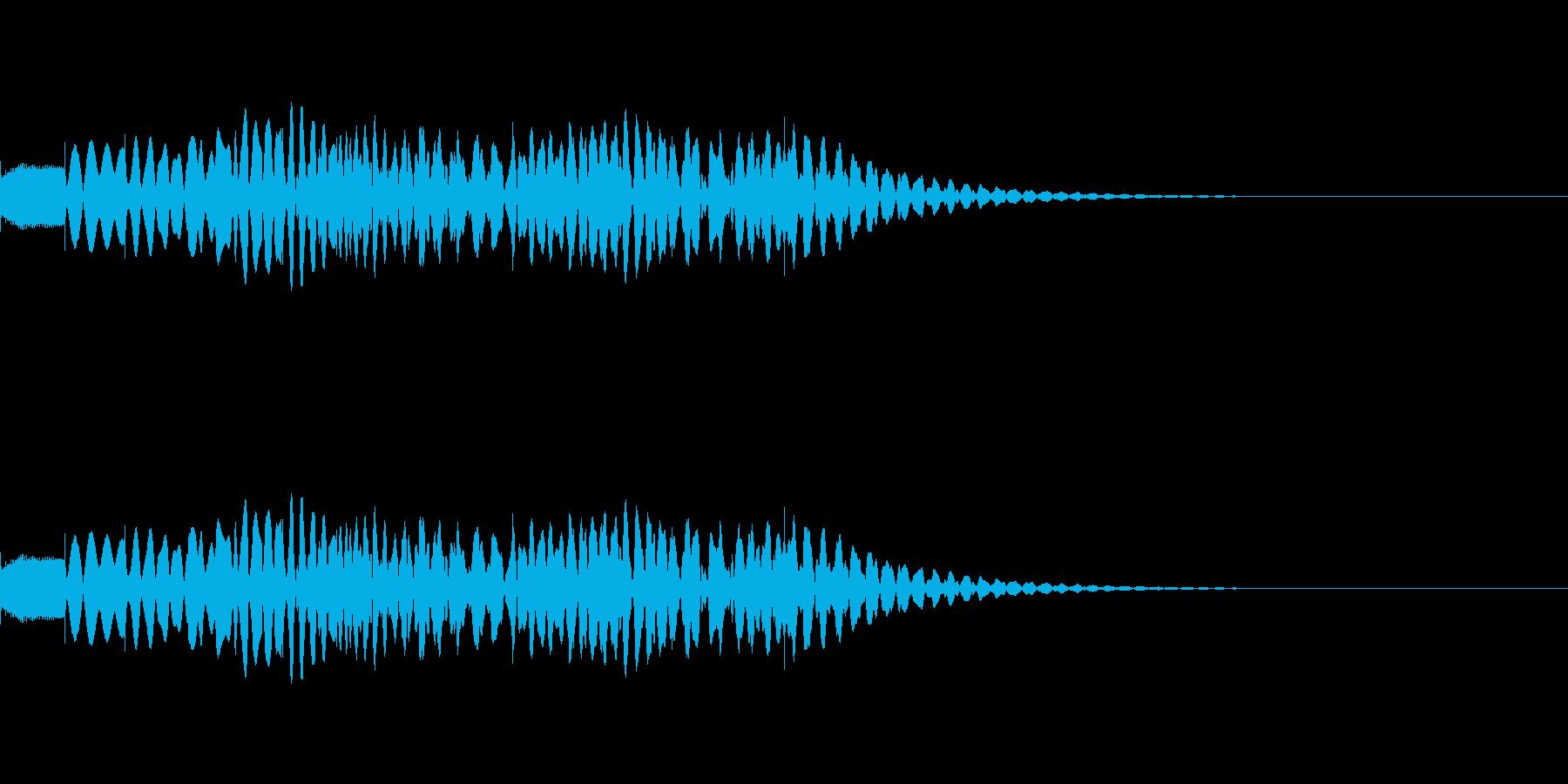 上がって下がるマリンバグリッサンドの再生済みの波形