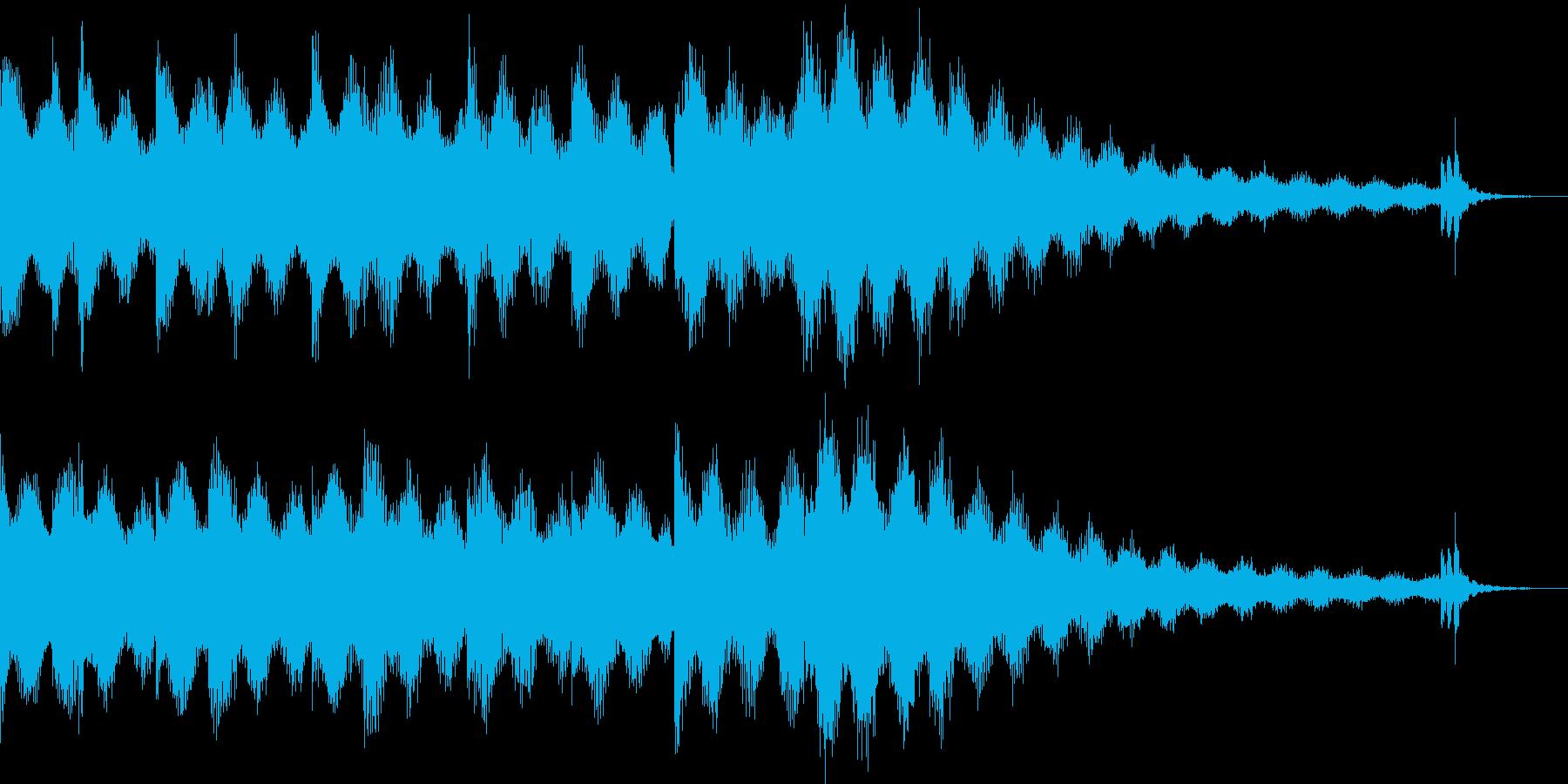 穏やかでジャジーなRhodesジングルの再生済みの波形