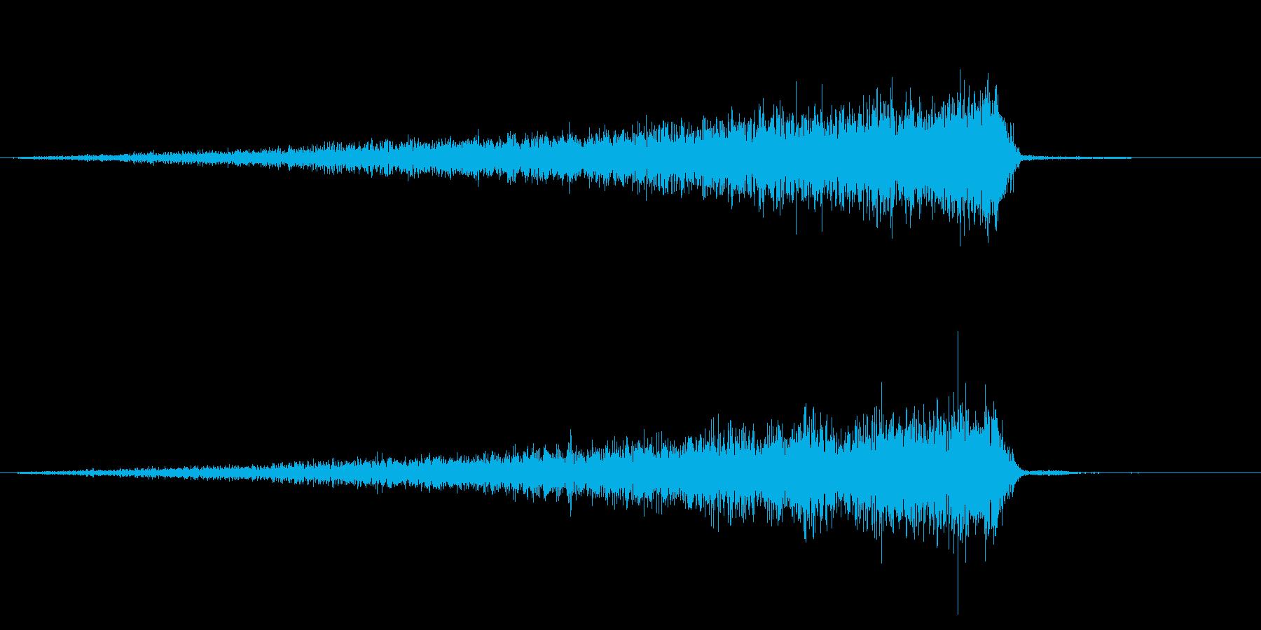ホラー系アタック音78の再生済みの波形