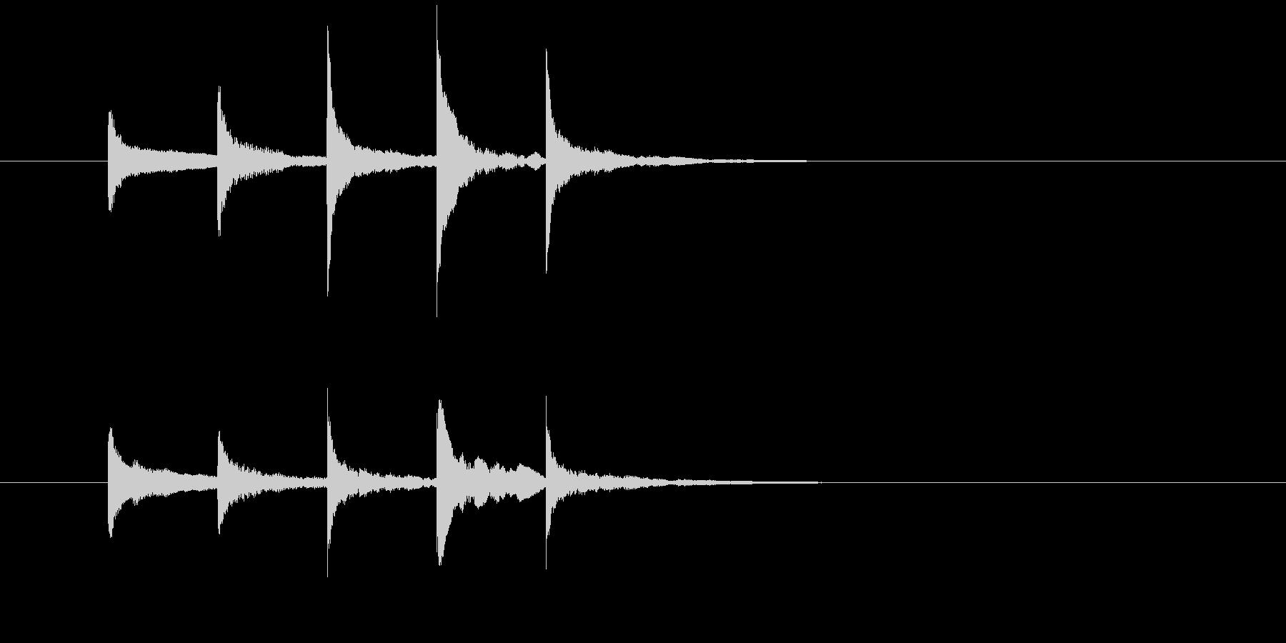 サウンドロゴ・ジングルXylophoneの未再生の波形