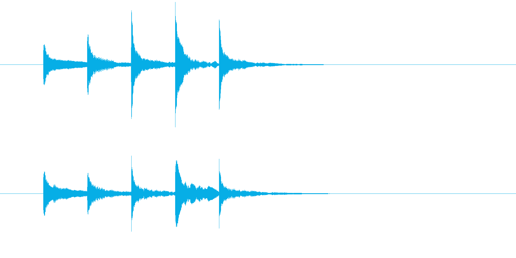 サウンドロゴ・ジングルXylophoneの再生済みの波形