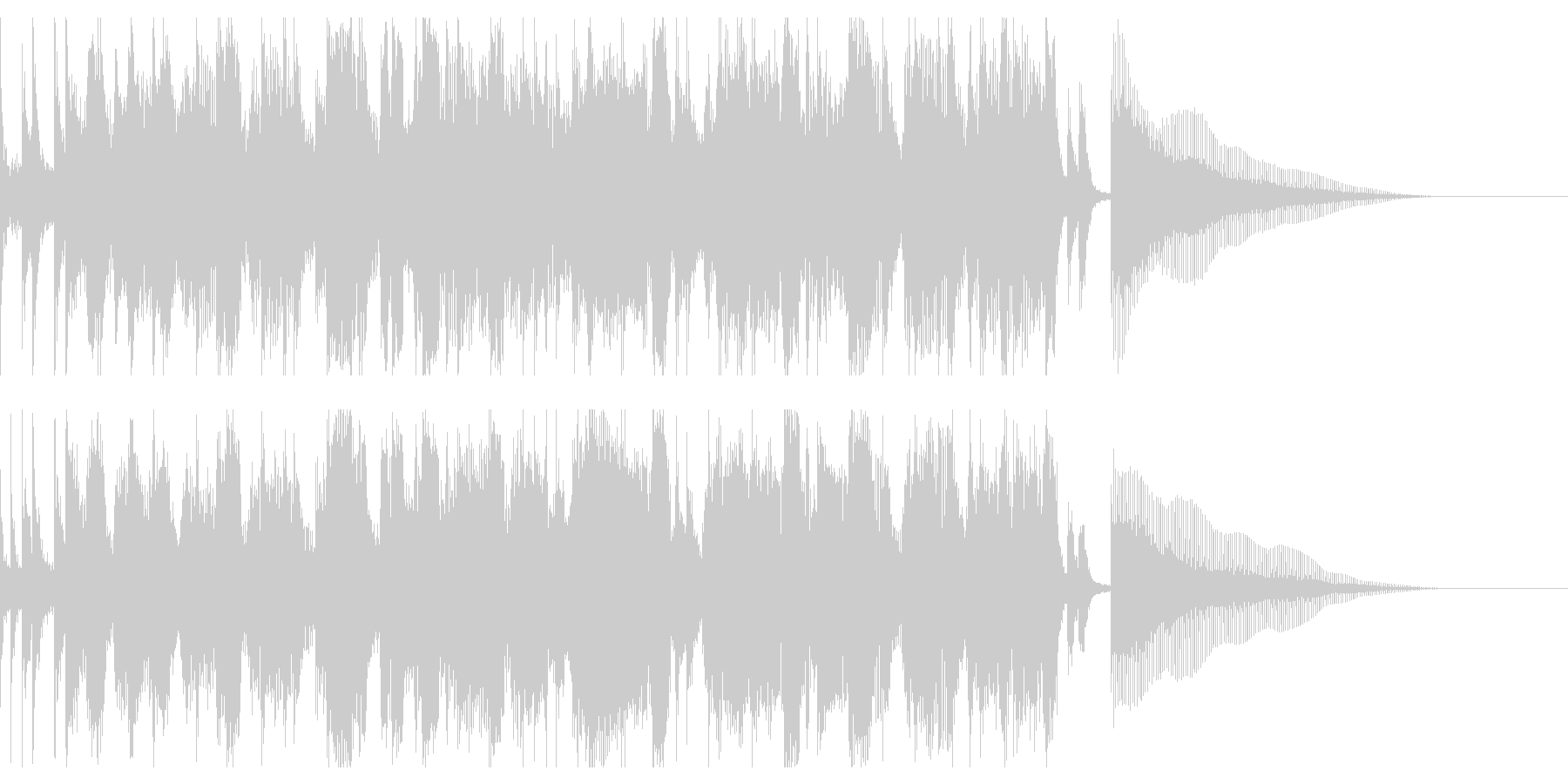 楽しく勉強する歌 プランクトンの未再生の波形