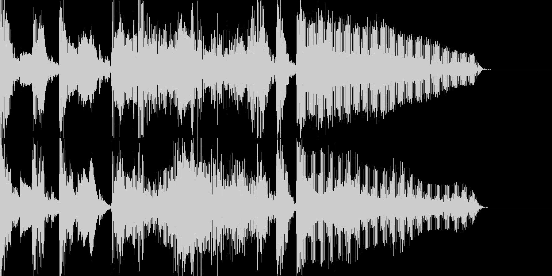 小洒落たジングルの未再生の波形