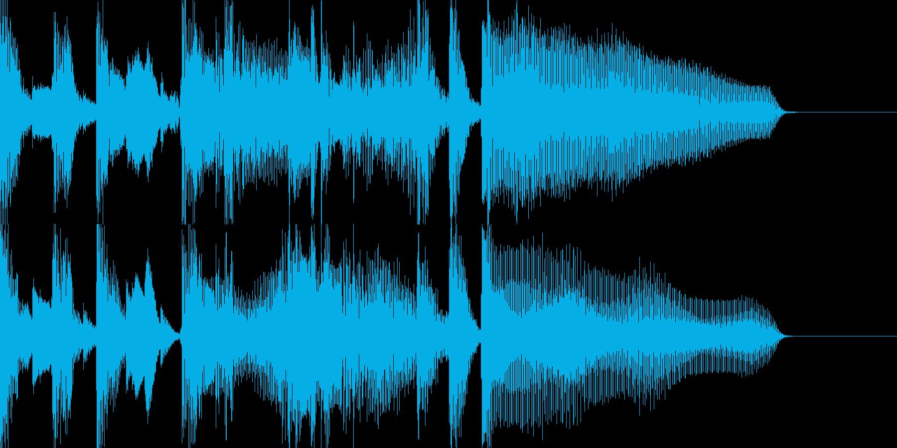 小洒落たジングルの再生済みの波形