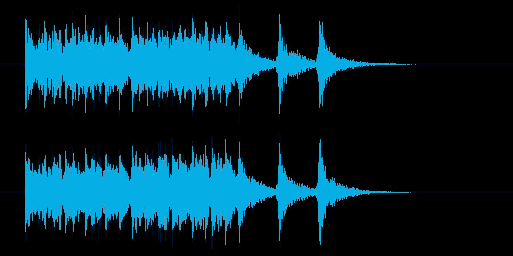 疾走感のあるフュージョンミュージックの再生済みの波形