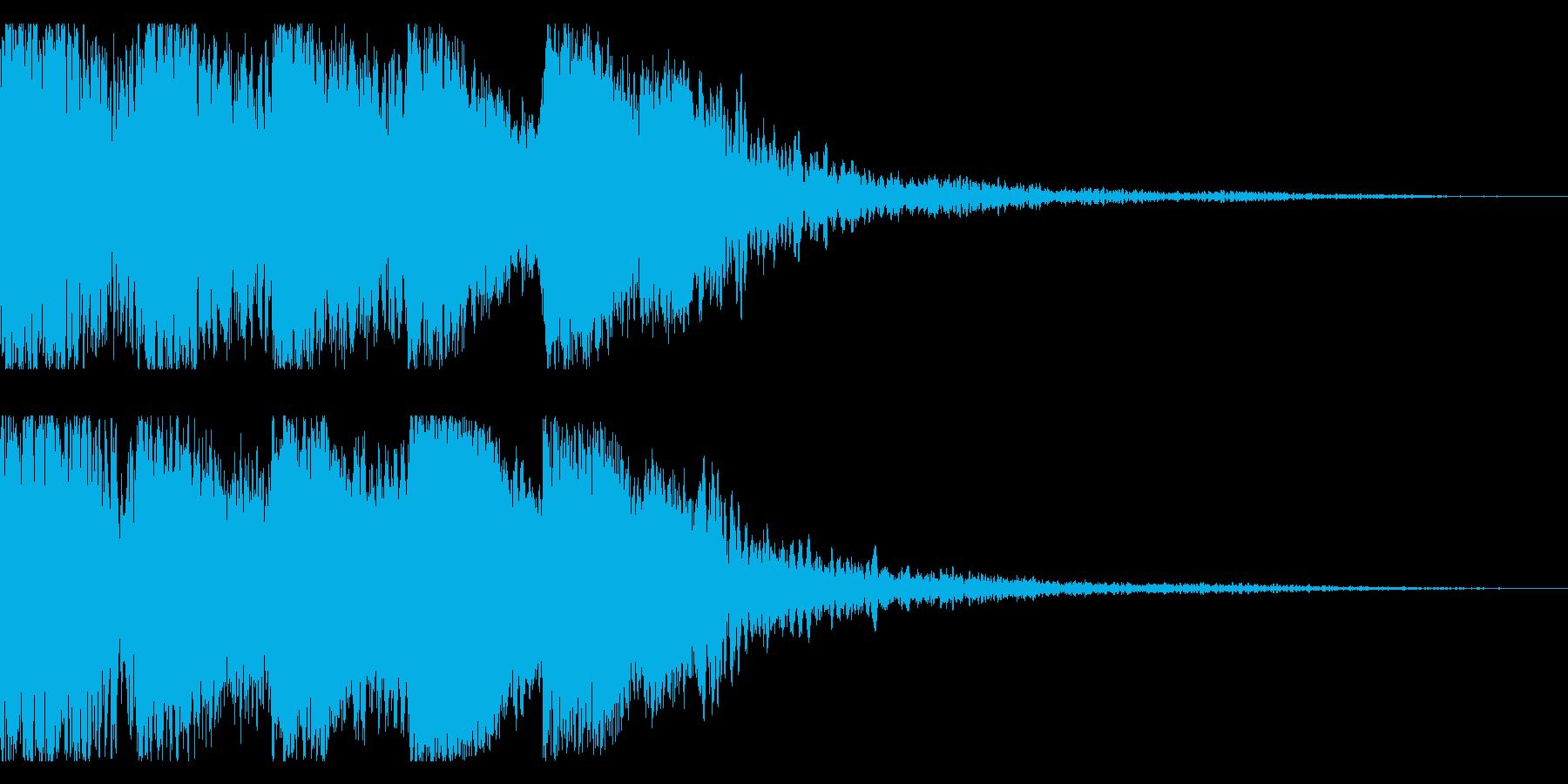 和風なオーケストラヒットのジングル♪10の再生済みの波形