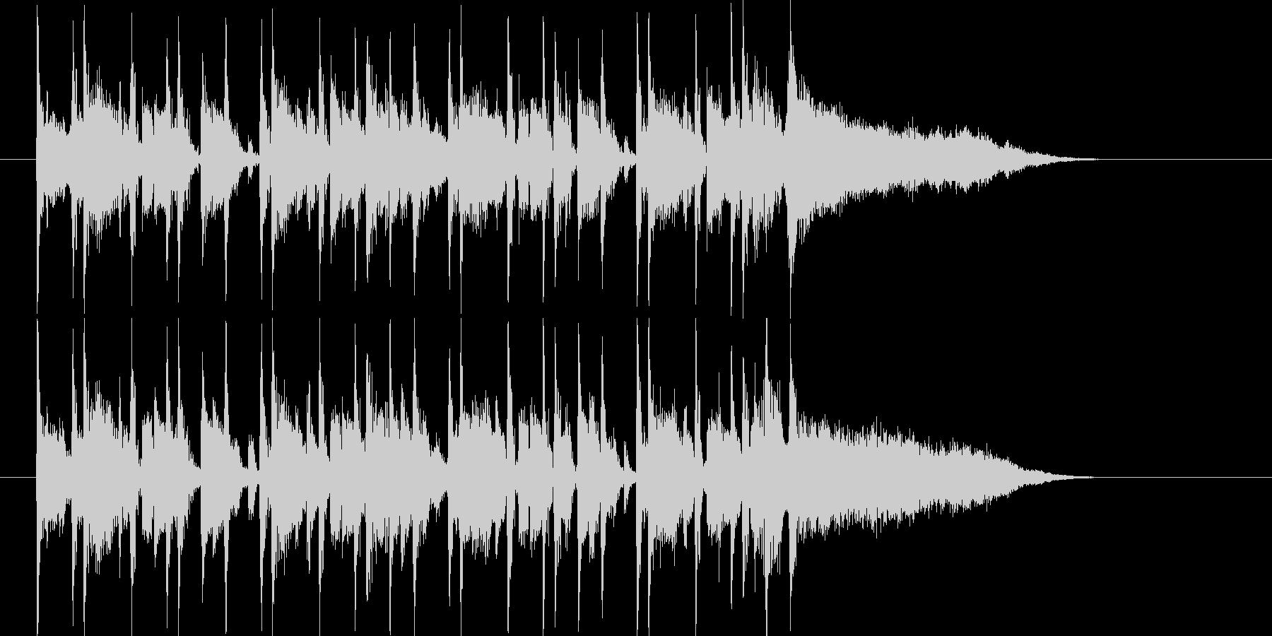 ミディアムテンポのテクノミュージックの未再生の波形