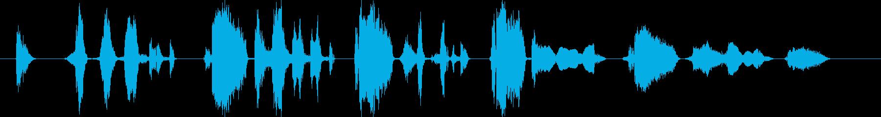 あははは、あははははは、ふふっ、ふふふ…の再生済みの波形