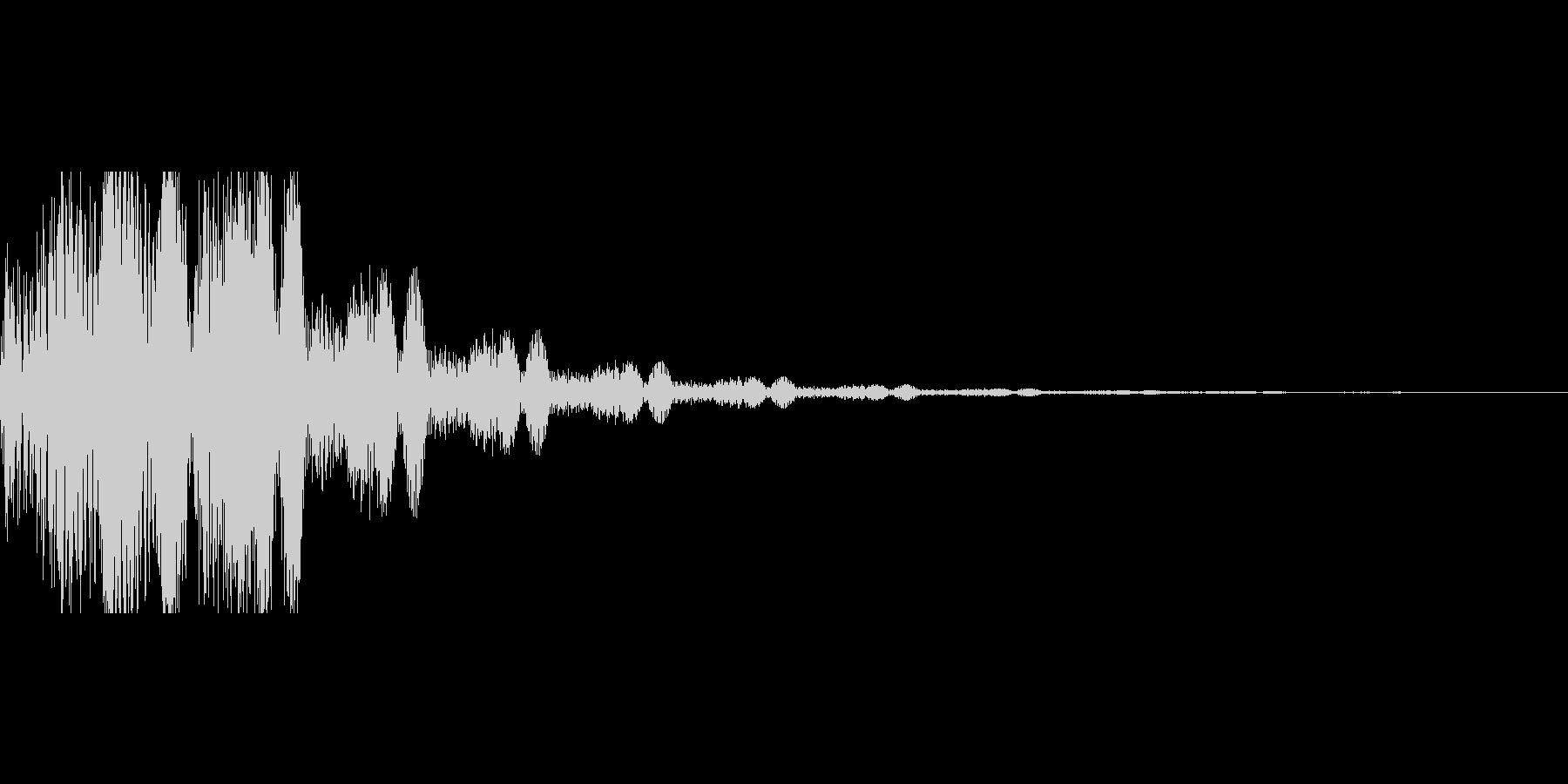 セレクト音の未再生の波形