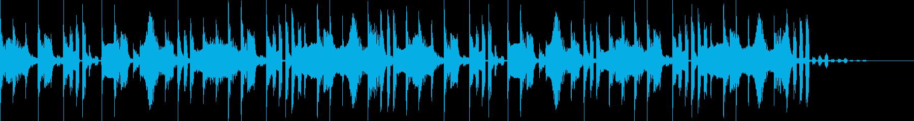 ファミコンのゲーム音楽のようなジングルの再生済みの波形