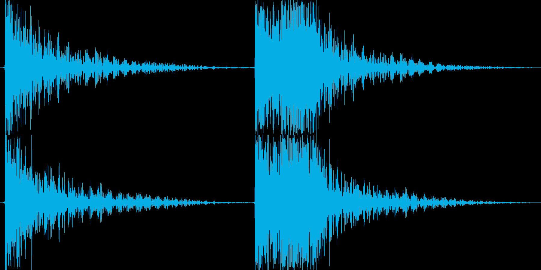 重金属系の打撃音です。の再生済みの波形