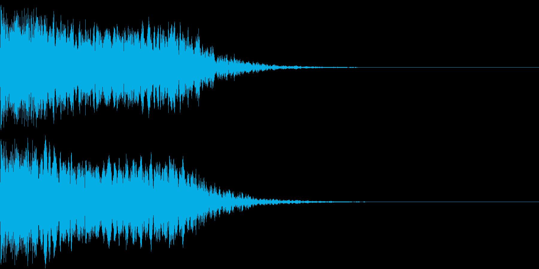 キュイン ギュイーン シャキーン 12の再生済みの波形