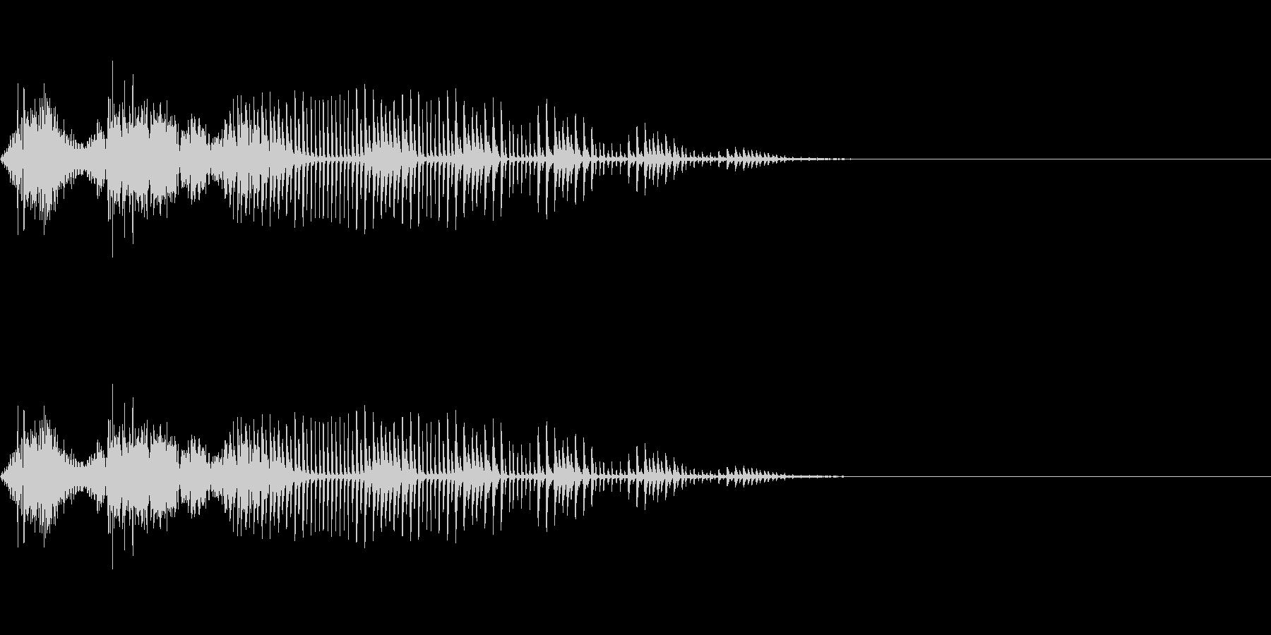 【SE 効果音】効果音その8の未再生の波形