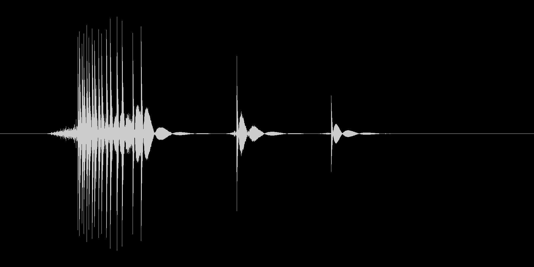 ゲーム(ファミコン風)ヒット音_011の未再生の波形