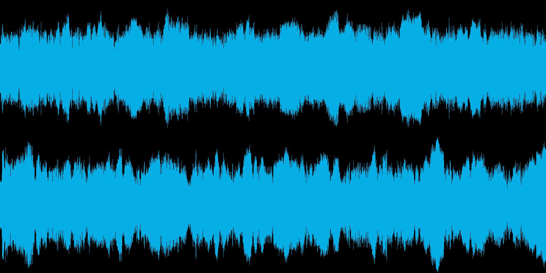 ループ対応のサイレンの効果音の再生済みの波形
